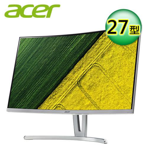 【Acer 宏碁】ED273 A 27型 VA曲面電競液晶螢幕 【贈收納購物袋】