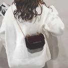 斜背小方包 ins超火包斜背鍊條包包女新款潮韓版百搭個性迷你漆皮蹦迪包