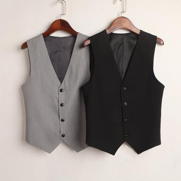 外套/背心  韓版短款馬甲男女修身顯瘦百搭西裝背心外套工服坎肩潮