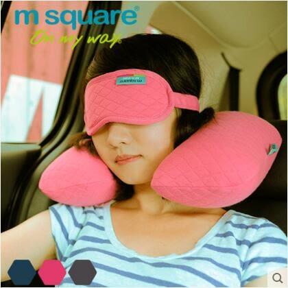 旅行2件寶滌棉旅行2件套旅行套裝U型頸枕拖鞋眼罩