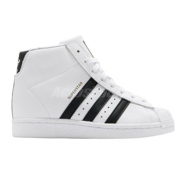 adidas 休閒鞋 Superstar Up W 白 黑 女鞋 金標 內增高 高筒 經典款 小白鞋 【ACS】 FW0118