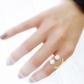 戒指 925純銀 鑲鑽-珍珠笑臉生日情人節禮物女開口戒3色73dv23[時尚巴黎]