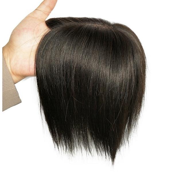 假髮片(真髮)-直髮逼真自然遞針20cm女假髮73vm16【時尚巴黎】