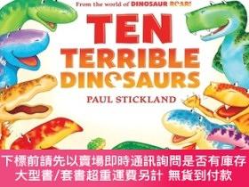 二手書博民逛書店罕見原版 10只調皮的小恐龍 英文原版 Ten Terrible DinosaursY454646 Paul