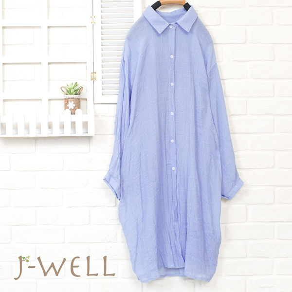 J-WELL 涼感薄透素面長襯衫(3色) 8J1490
