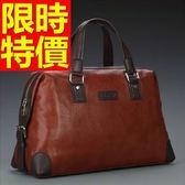 真皮行李袋-出遊可肩背設計方便男手提包3色59c46【巴黎精品】