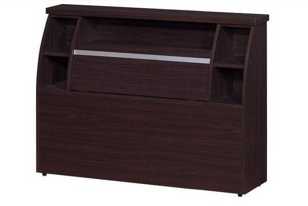 【新北大】✵Z49-10 馬克黑玻3.5尺收納床頭箱(木心板)(梧桐/雪松/胡桃)(17購)