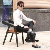 潮男豆豆鞋 男士豆豆鞋2018百搭新款潮流夏季韓版 WD1122『衣好月圓』