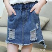 女童牛仔裙兒童超短裙潮
