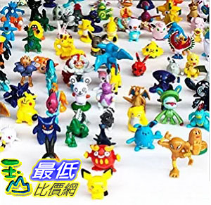 [美國直購] OliaDesign Pokemon Pikachu Monster Mini Action Figures Toy (Lot of 24 Piece), 1 數字玩具