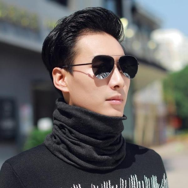 限時特銷 圍脖男士冬季保暖圍巾韓版百搭加厚脖套防寒防風圍脖一體帽
