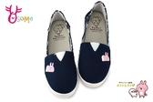 卡娜赫拉 童鞋 女鞋 拼布懶人鞋 休閒鞋K7571#藍色◆OSOME奧森鞋業