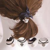 吊墜鍛帶層次髮圈 髮圈 造型髮飾 彈性髮圈