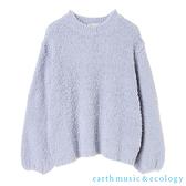 「Hot item」素面柔軟保暖針織上衣 - earth music&ecology