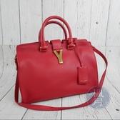 BRAND楓月 SAINT LAURENT YSL 311210 經典LOGO 紅色 皮革 醫生包 肩背包 手提包