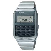 CASIO 電子時代計算機錶-銀(CA-506-1)