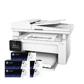 【搭17A原廠碳粉匣五支】HP LaserJet Pro M130fw 無線黑白雷射傳真複合 登錄送禮卷