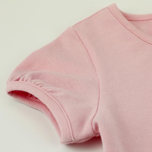 【愛的世界】彈性圓領蝶舞短袖上衣/2~3歲-台灣製-  --春夏上著 夏出清