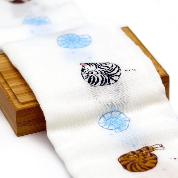 【貓粉選物】日本毛巾-江戶貓-34X95cm 親膚毛巾/100%天然綿/日本製/純天然
