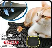 *KING WANG*【買一送二編織平面抓板+免運】寵喵樂《EVA可愛貓臉 貓砂踏墊》