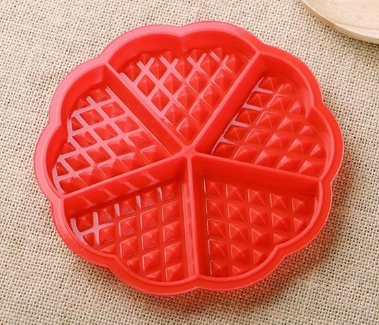 【協貿國際】家用鬆餅模具烘焙蛋糕矽膠磨俱(2入)