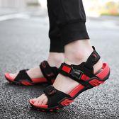 男士涼鞋新款夏季學生戶外防滑休閒鞋青少年軟底沙灘鞋 QQ21822『bad boy時尚』