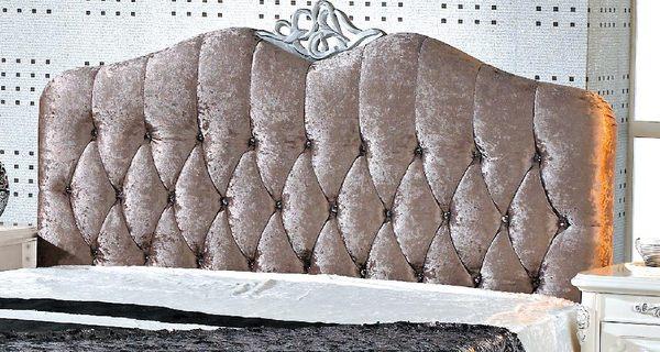 【森可家居】辛妮水鑽6尺床頭片 7JX88-14 雙人 法式古典 宮廷風 絨布