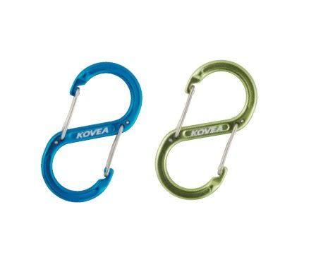 Kovea 韓國 圓頭S-雙邊快速鉤環 不分色 KEMN9HA-08 登山扣鑰匙圈 掛勾 [易遨遊]