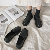 黑色軟妹小皮鞋女英倫風平底2020秋冬季新款復古日系jk制服樂福鞋 【雙十一狂歡購】