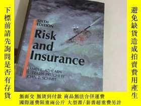 二手書博民逛書店Risk罕見and lnsurance(精裝)Y13534 SI