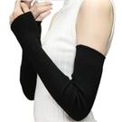 保暖手套機車手套羊絨手臂套袖針織假袖子女秋冬長版手套護胳膊加厚保暖羊毛線袖套推薦