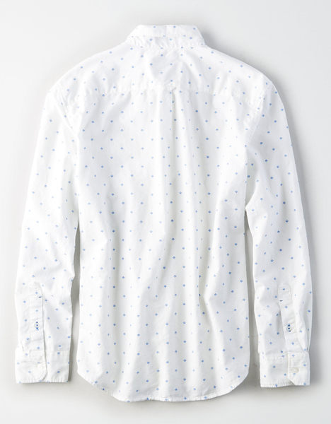(BJGO) AMERICAN EAGLE_男裝_AEO DIAMOND DOT OXFORD SHIRT美國老鷹完美印花襯衫現貨