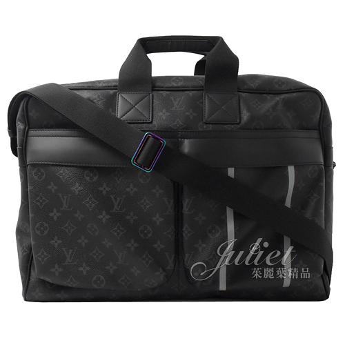 茱麗葉精品 二手精品【展示全新 優惠價 】Louis Vuitton X fragment design聯名限量旅用包.黑