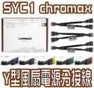 [地瓜球@] Noctua 貓頭鷹 SYC1 chromax  4pin PWM Y型 風扇 電源 分接線