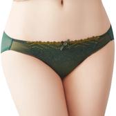 思薇爾-撩波系列M-XXL蕾絲低腰三角內褲(棲綠色)