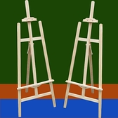 畫架木制1.5米胡桃色畫架實木質美術油畫架支架式摺疊展示畫板架  母親節禮物