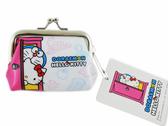 【卡漫城】 Hello Kitty 雙珠扣式 零錢包 聯名 ㊣版 Doraemon 哆啦 多拉 A夢 凱蒂貓 日版