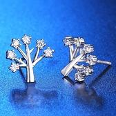 耳環 925純銀鑲鑽-樹枝造型生日情人節禮物女飾品73hk36[時尚巴黎]