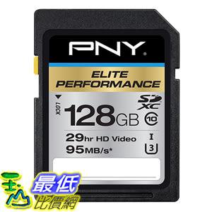 [美國直購] PNY 記憶卡 Elite Performance 128 GB High Speed SDXC Class 10 UHS-I (P-SDX128U395-GE)