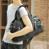 韓版男包手提包男士商務潮流單肩包帆布斜背包旅行手拎包背包男包