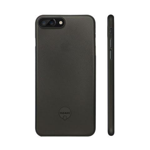 【漢博】Ozaki O!Coat 0.4 Jelly iPhone 7 Plus 超薄透色保護殼 - 霧透黑