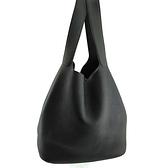 【奢華時尚】HERMES M刻印-黑色牛皮銀釦Picotin 31肩背大水桶包(八八成新)#25201