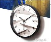 掛鐘 鐘錶掛鐘客廳創意現代時鐘石英鐘錶掛錶臥室靜音個性大號壁鐘YYJ 青山市集