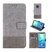 華為 Mate 20 Pro 十字布紋 掀蓋外磁扣手機套 手機殼 翻蓋可立式皮套 插卡 保護殼 全包保護套