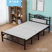 折疊床 簡約折疊床中式午休床木板床雙人床單人床家用出租房鐵藝加厚成人 第六空間 igo
