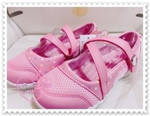 ♥小花花日本精品♥HelloKitty 鞋子兒童鞋中童鞋包鞋點點網狀立體大頭LOGO粉色台灣製718615