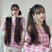 假髮 假發女雙馬尾 lolita日系長發馬尾洛麗塔cos自然軟妹長直發綁帶式 霓裳細軟