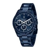 MASERATI 瑪莎拉蒂 湛藍系鋼帶多功能腕錶45mm(R8853100025)