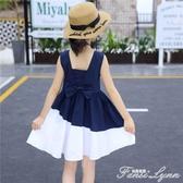 女童裙子夏季洋氣兒童夏款連身裙中大童小女孩公主裙夏裝新款 中秋節全館免運