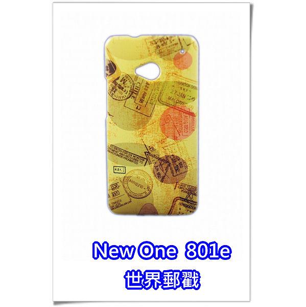[機殼喵喵] HTC New One (M7) 801e 新一機 手機殼 23 世界郵戳